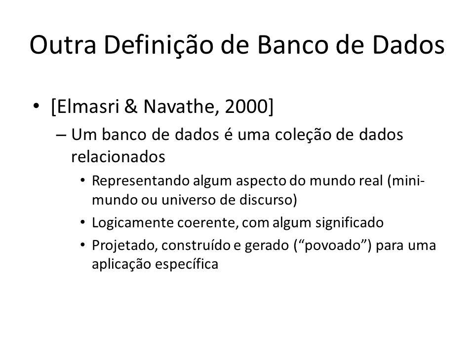 Outra Definição de Banco de Dados