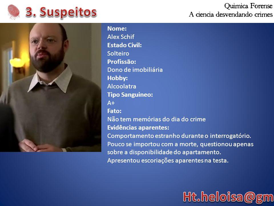 3. Suspeitos Ht.heloisa@gmail.com Nome: Alex Schif Estado Civil: