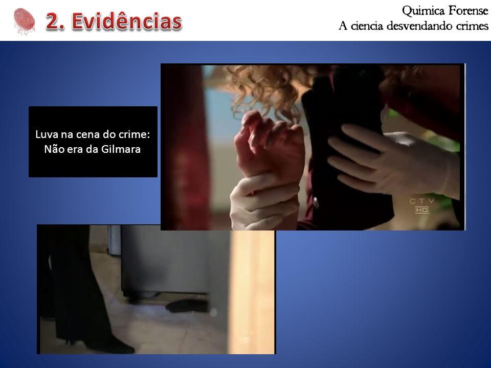 2. Evidências Luva na cena do crime: Não era da Gilmara