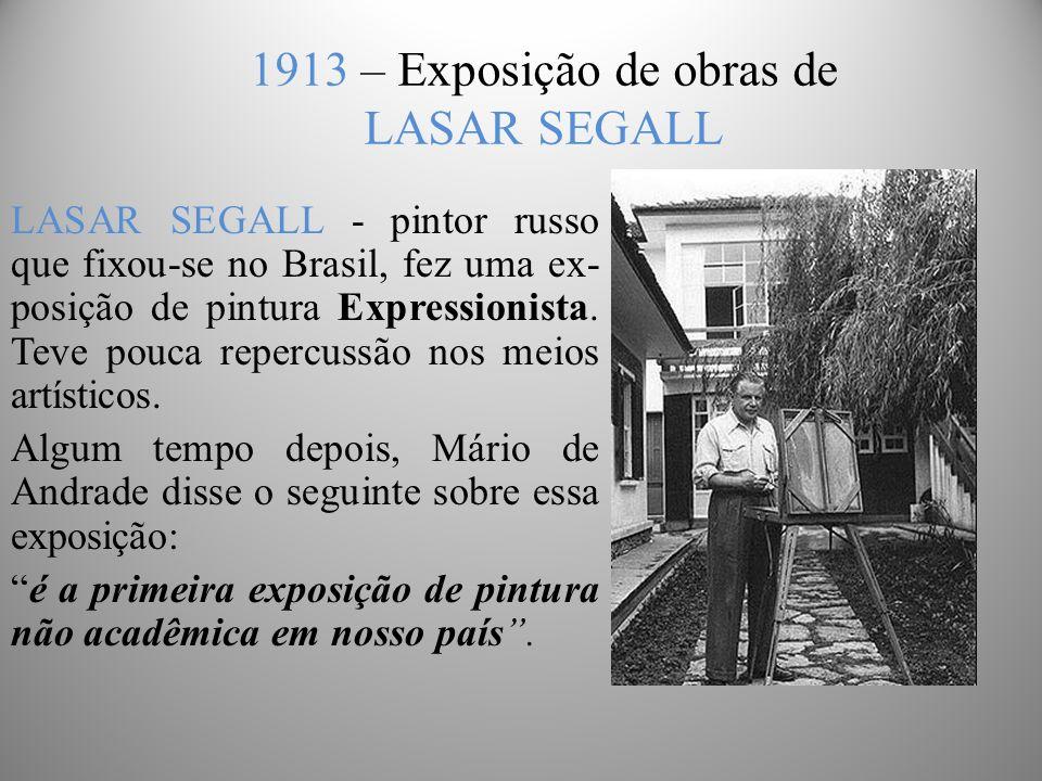 1913 – Exposição de obras de LASAR SEGALL