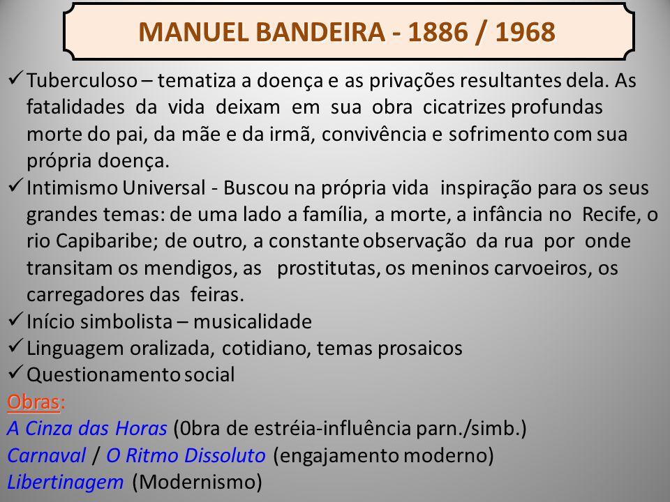 MANUEL BANDEIRA - 1886 / 1968
