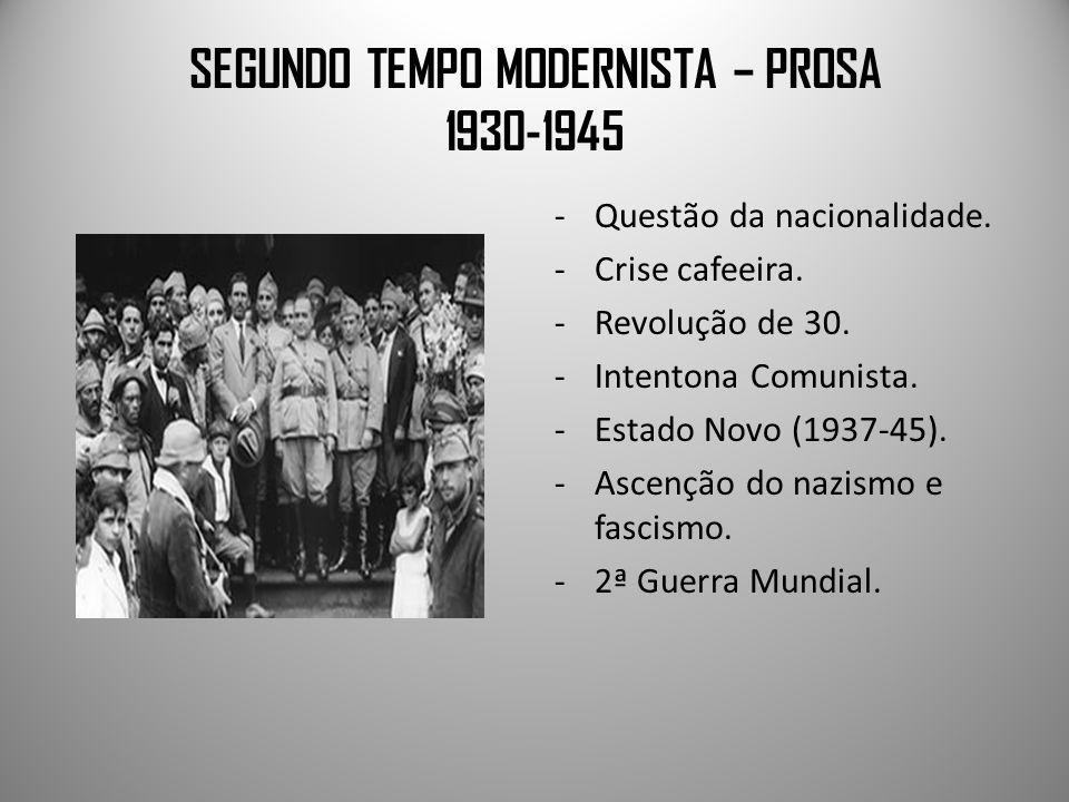 SEGUNDO TEMPO MODERNISTA – PROSA 1930-1945