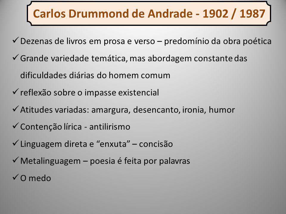 Carlos Drummond de Andrade - 1902 / 1987
