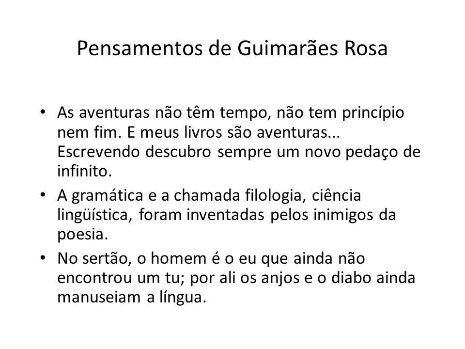 Pensamentos de Guimarães Rosa