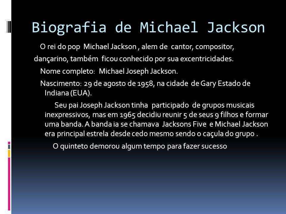 Biografia de Michael Jackson