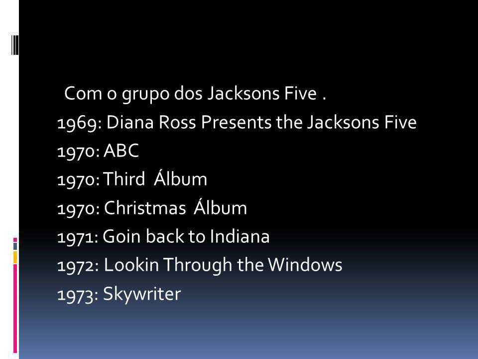 Com o grupo dos Jacksons Five