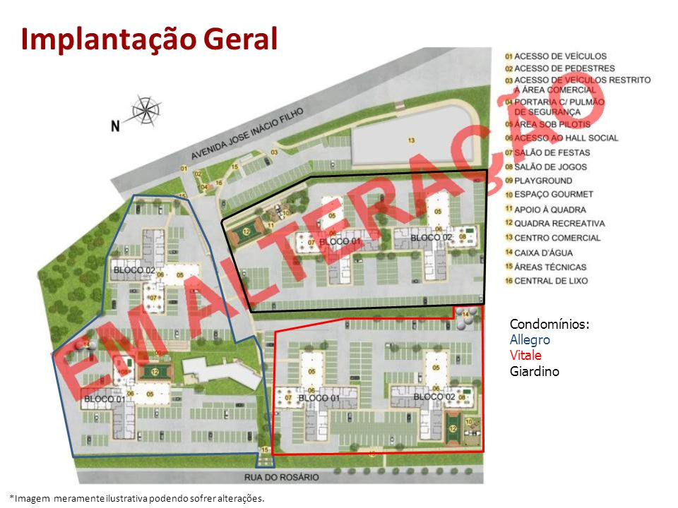 Implantação Geral Condomínios: Allegro Vitale Giardino