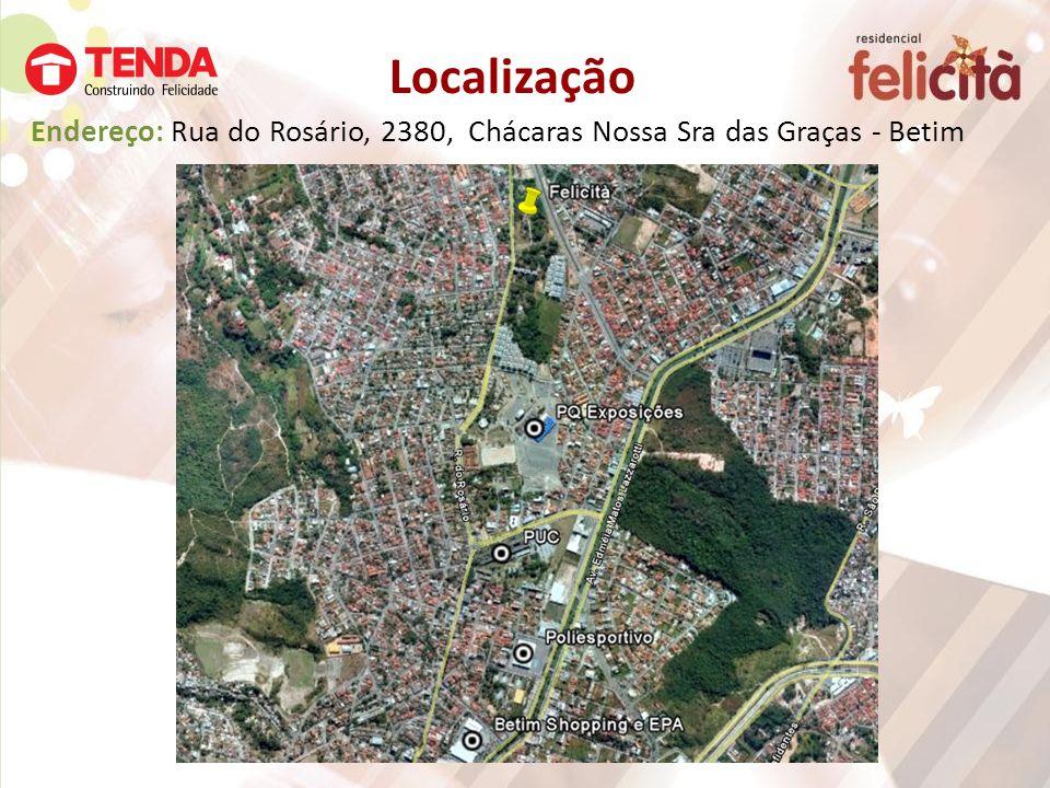 Localização Endereço: Rua do Rosário, 2380, Chácaras Nossa Sra das Graças - Betim