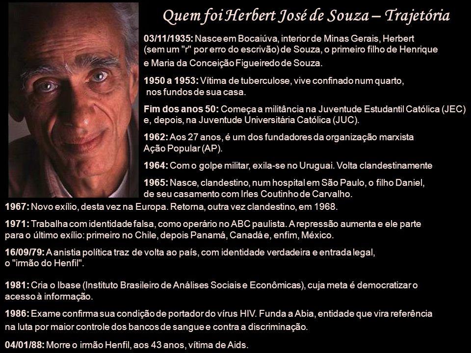 Quem foi Herbert José de Souza – Trajetória