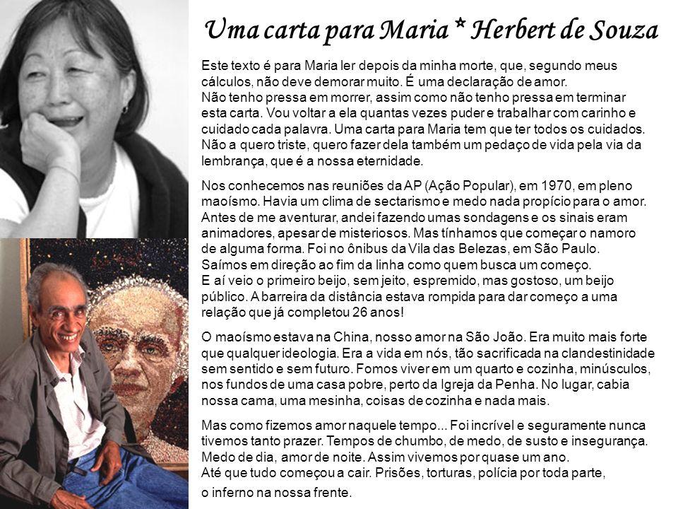 Uma carta para Maria * Herbert de Souza