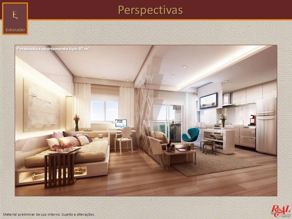 Perspectivas Perspectiva apartamento tipo 47 m²