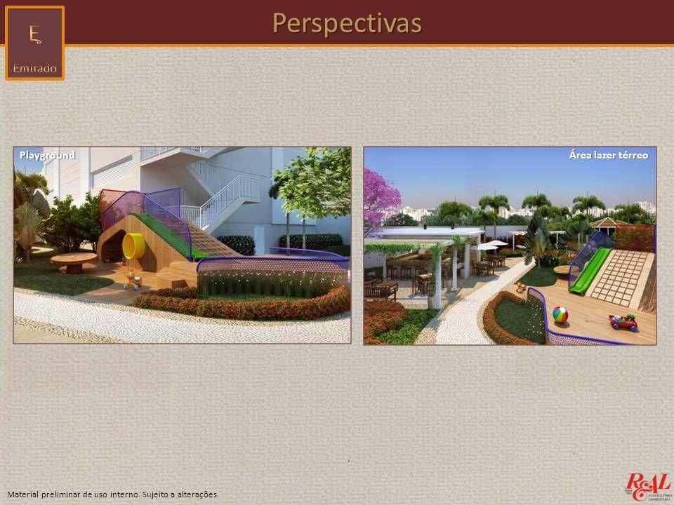 Perspectivas Playground Área lazer térreo