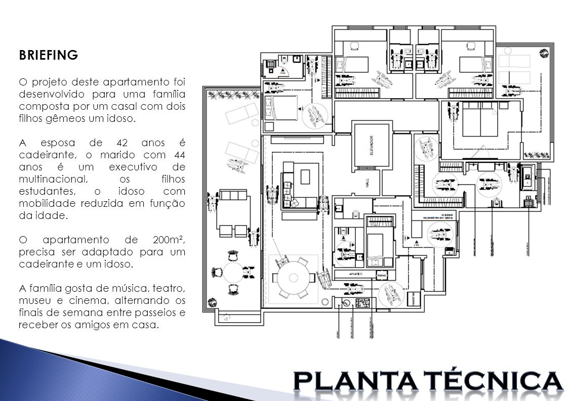 Planta técnica BRIEFING