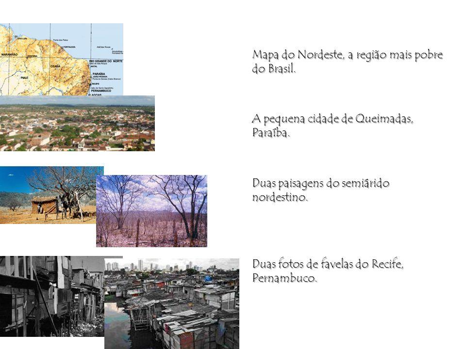Mapa do Nordeste, a região mais pobre do Brasil
