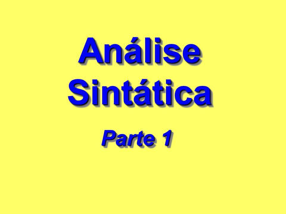 Análise Sintática Parte 1