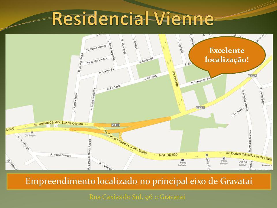 Empreendimento localizado no principal eixo de Gravataí