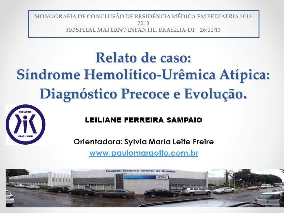 MONOGRAFIA DE CONCLUSÃO DE RESIDÊNCIA MÉDICA EM PEDIATRIA 2012-2013
