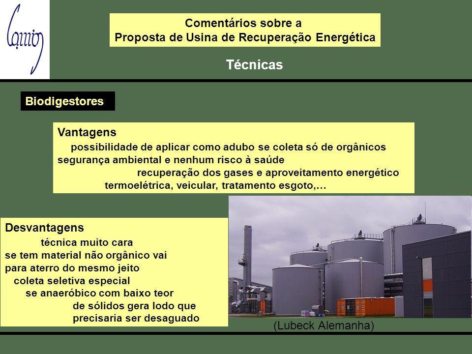 Proposta de Usina de Recuperação Energética