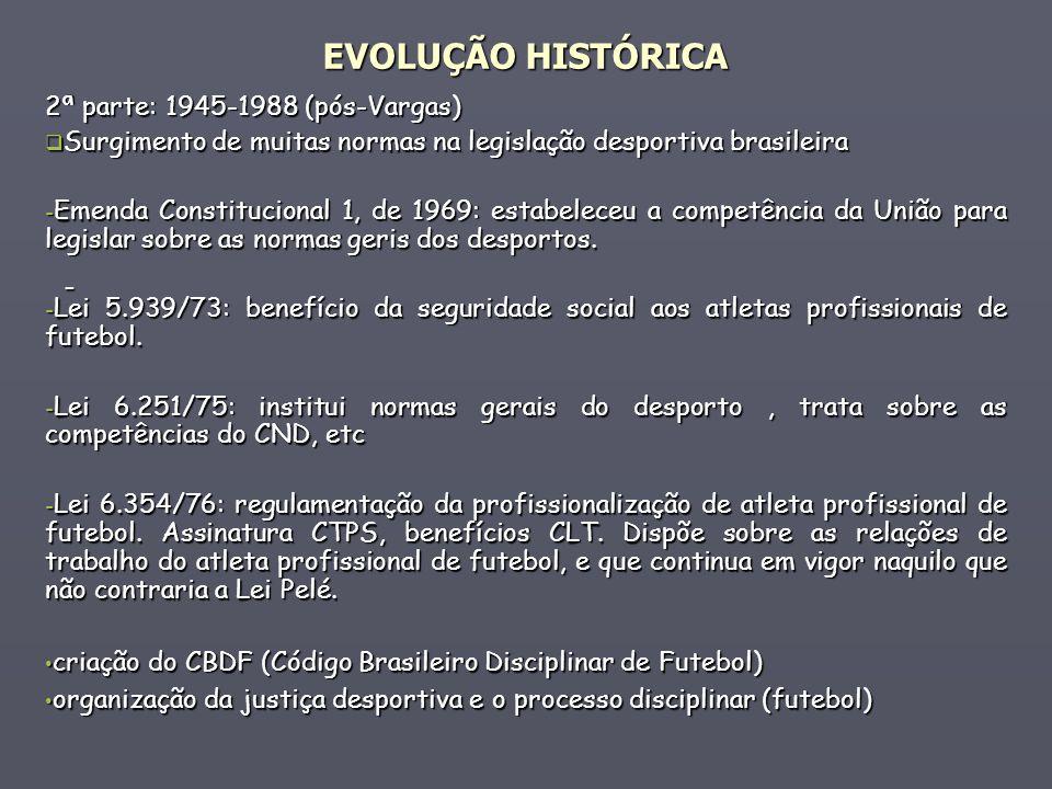 EVOLUÇÃO HISTÓRICA - 2ª parte: 1945-1988 (pós-Vargas)