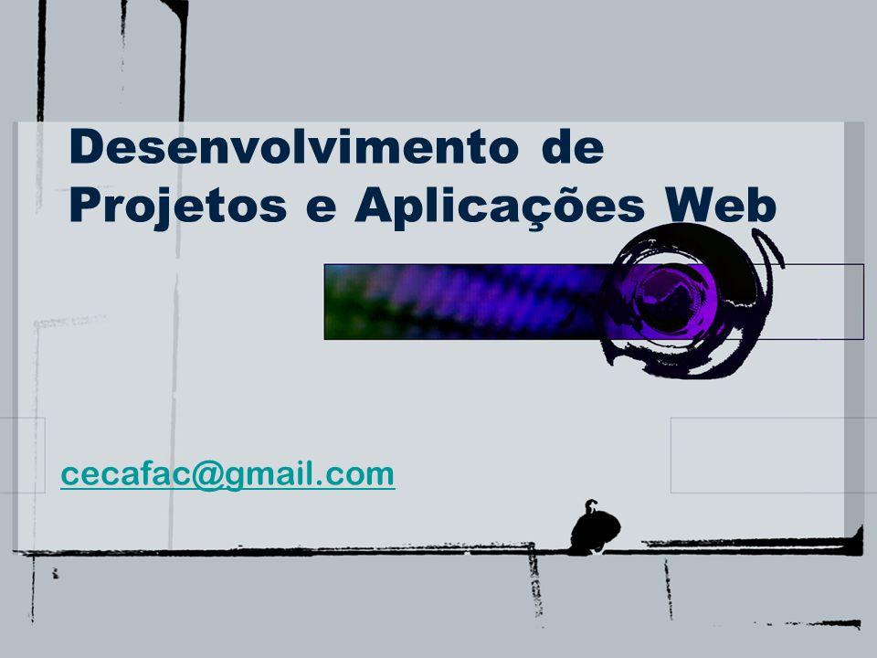 Desenvolvimento de Projetos e Aplicações Web