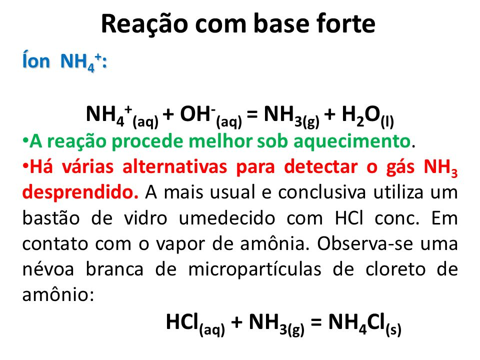 NH4+(aq) + OH-(aq) = NH3(g) + H2O(l)