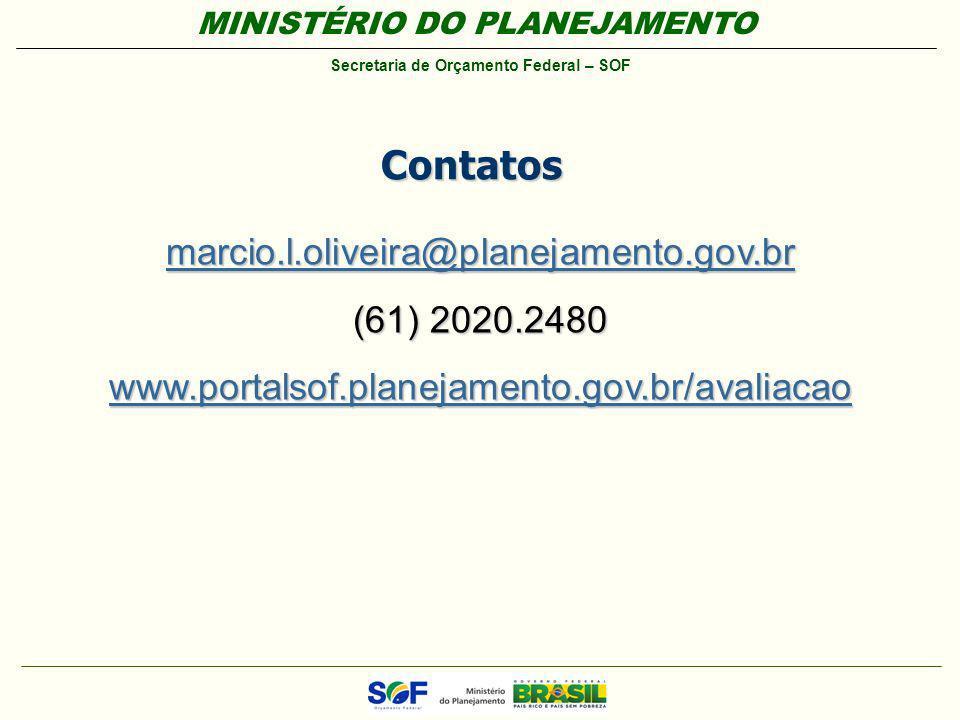 Contatos marcio.l.oliveira@planejamento.gov.br (61) 2020.2480