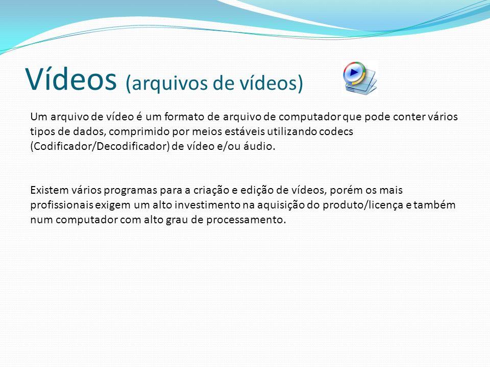 Vídeos (arquivos de vídeos)