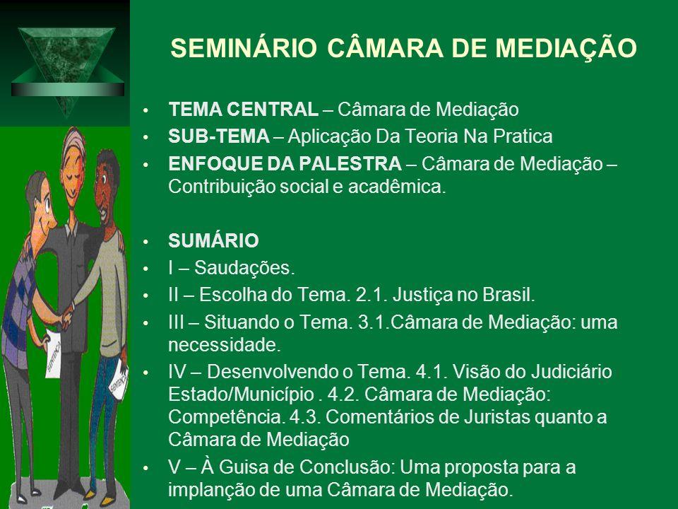 SEMINÁRIO CÂMARA DE MEDIAÇÃO