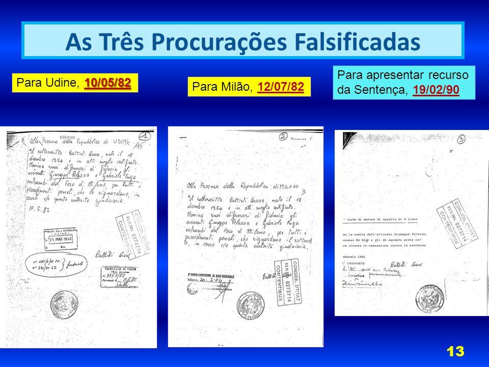As Três Procurações Falsificadas