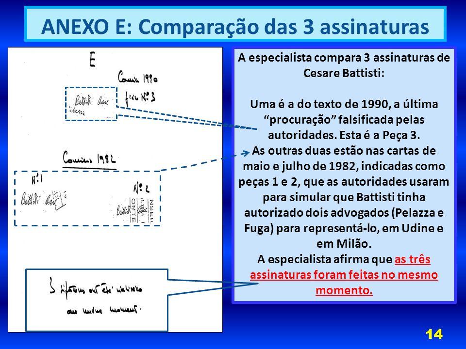 ANEXO E: Comparação das 3 assinaturas