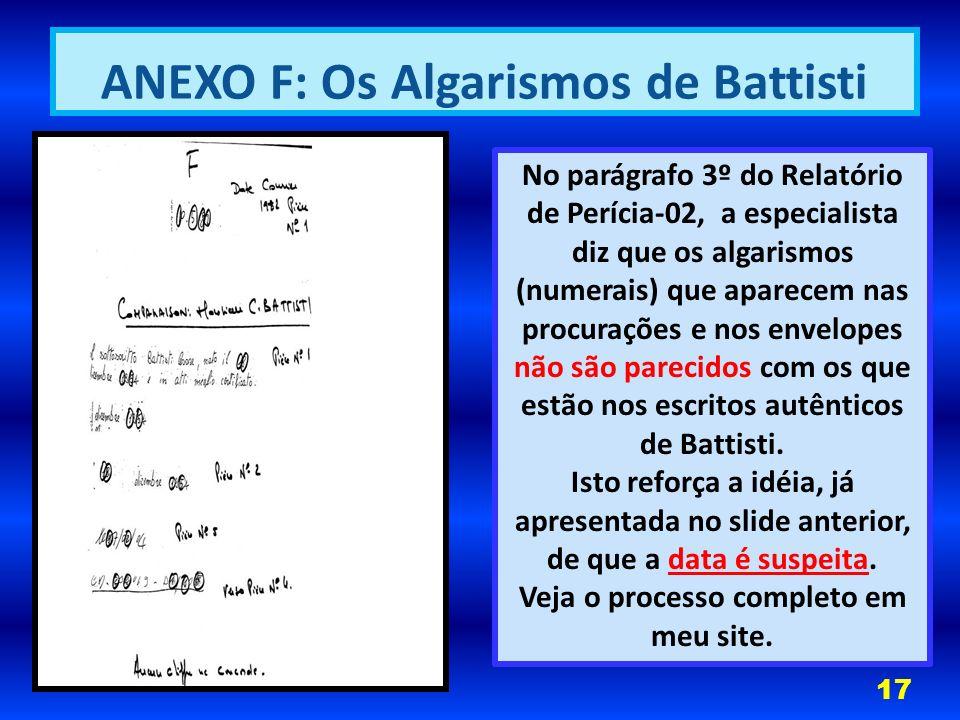 ANEXO F: Os Algarismos de Battisti