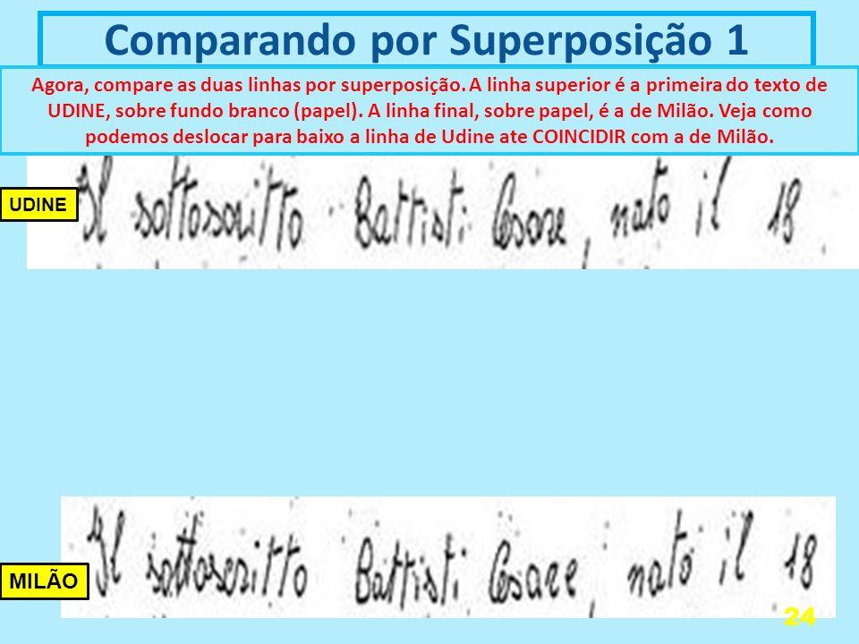 Comparando por Superposição 1