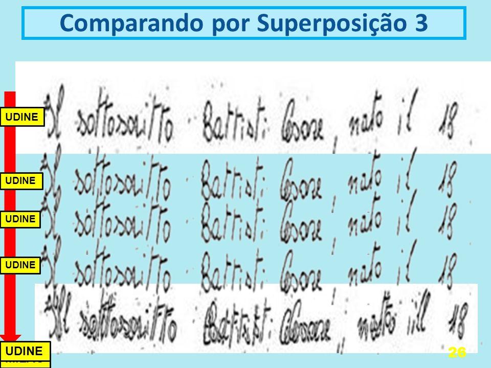 Comparando por Superposição 3