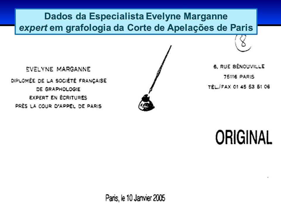 Dados da Especialista Evelyne Marganne