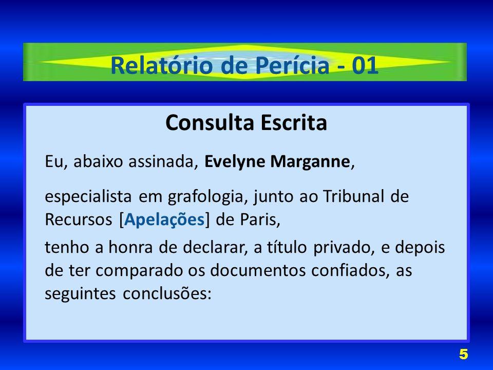 Relatório de Perícia - 01 Consulta Escrita