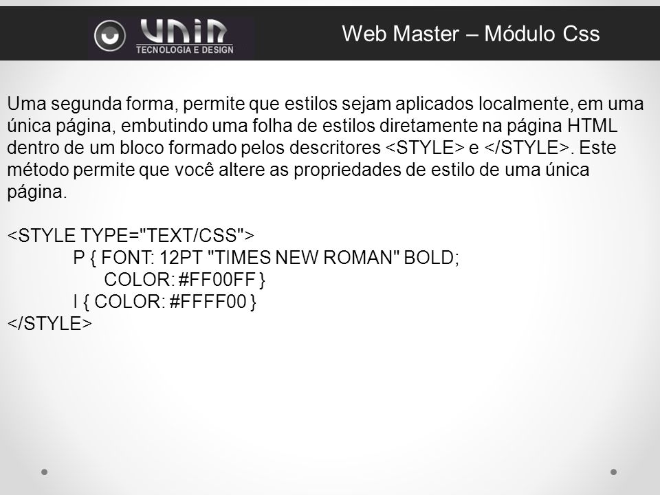 Web Master – Módulo Css