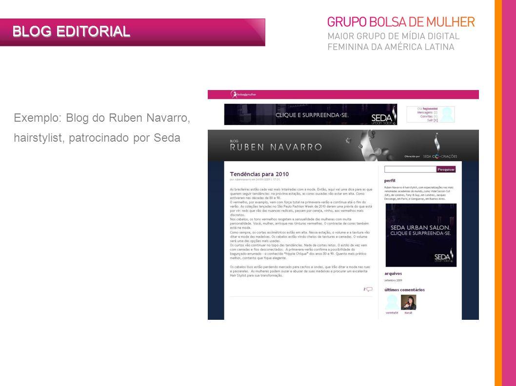 BLOG EDITORIAL Exemplo: Blog do Ruben Navarro,
