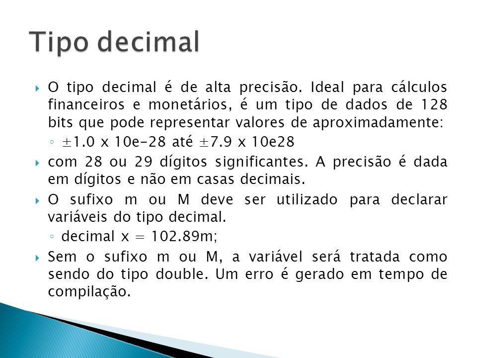 Tipo decimal