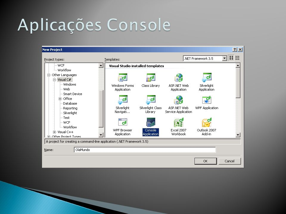Aplicações Console