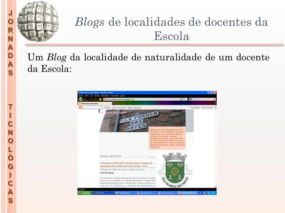 Blogs de localidades de docentes da Escola