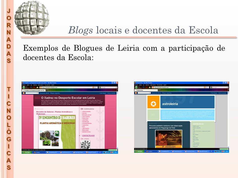 Blogs locais e docentes da Escola