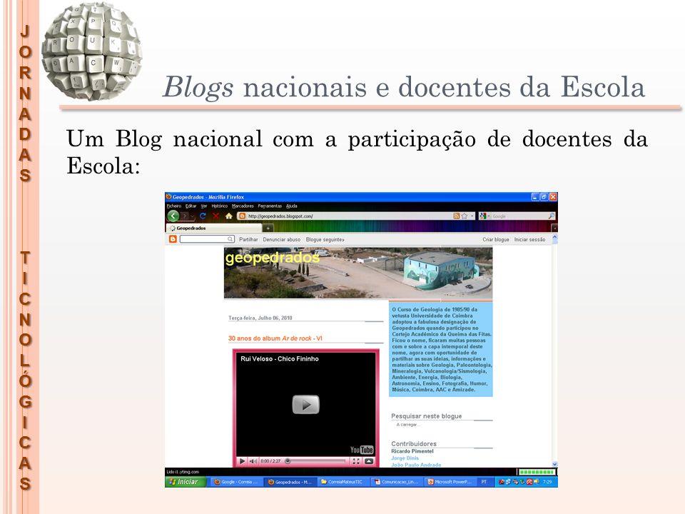 Blogs nacionais e docentes da Escola