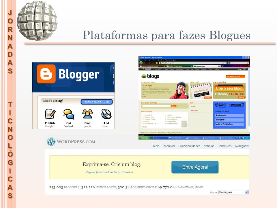 Plataformas para fazes Blogues
