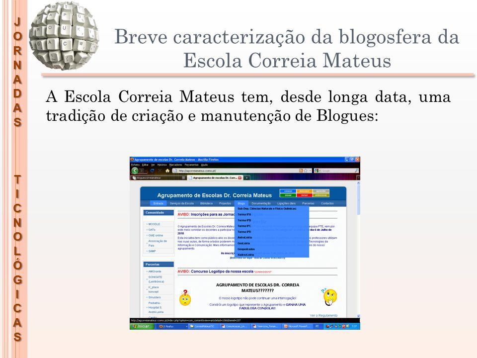 Breve caracterização da blogosfera da Escola Correia Mateus