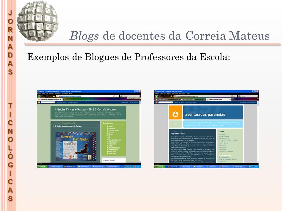 Blogs de docentes da Correia Mateus
