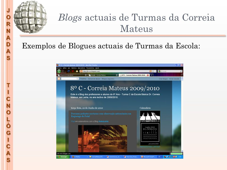 Blogs actuais de Turmas da Correia Mateus