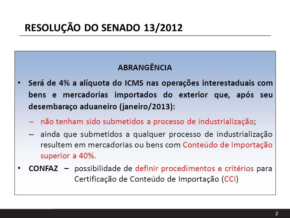 RESOLUÇÃO DO SENADO 13/2012 ABRANGÊNCIA