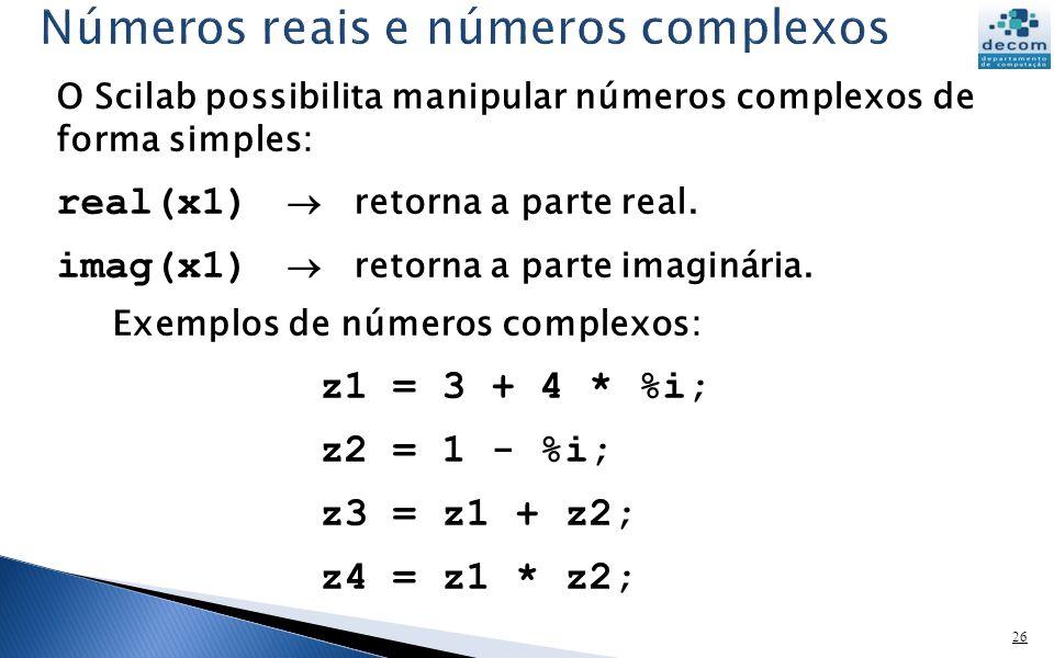 Números reais e números complexos