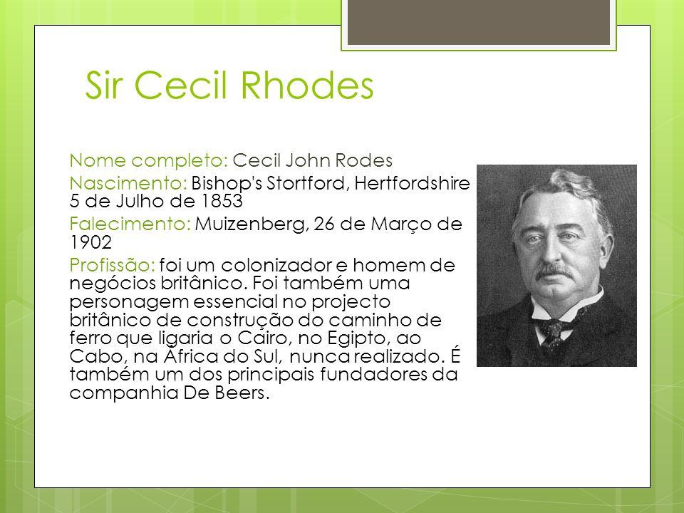 Sir Cecil Rhodes