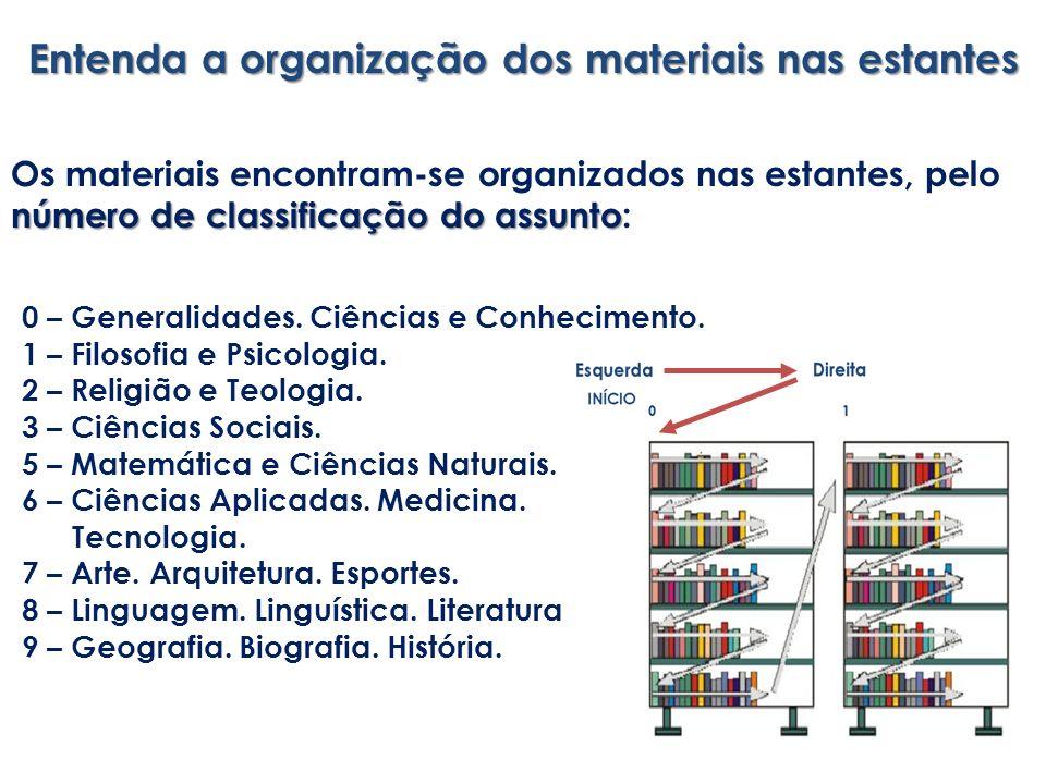 Entenda a organização dos materiais nas estantes